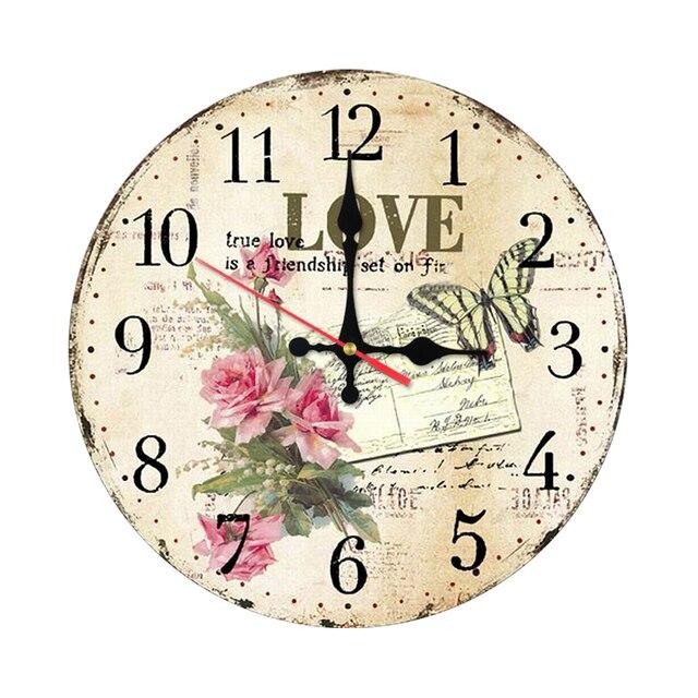 Incroyable 2017 Neue Mode Wanduhr Holz Blume Uhren Quarzuhr Moderne Wohnkultur Kreis  Einzigen Gesicht Aufkleber Für Wohnzimmer