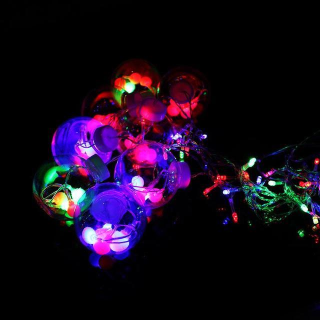 AC 220 V 6 W 3 M Luces de la Secuencia de la Lámpara Bar de Hielo de Colores 64-LED Con Enchufe UE De Centelleo Home Jardín Fiesta de Navidad de La Boda