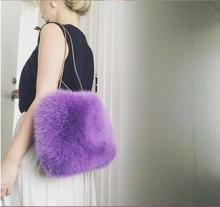 Handbags Faux Fur women Tote Bags Soft Shoulder Bag Luxury Women Bags Female