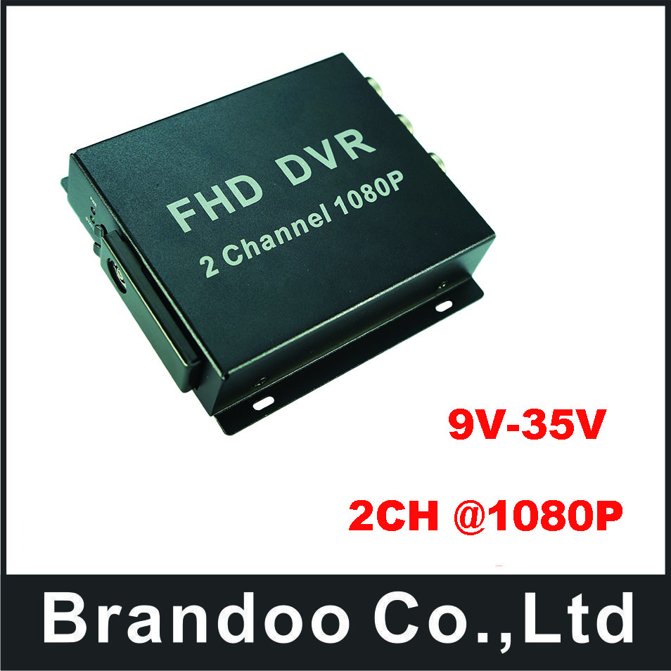 FHD MDVR 2CH Mobile DVR 1080P Digital Video Recorder Fleet DVR For Taxi Bus Vehicle
