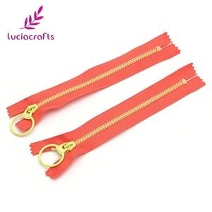 Lucia crafts, 2 шт., 15 см/20 см/30 см, закрытые резиновые молнии, кольцо на молнии, головка «сделай сам», ручной пошив сумки, аксессуары для одежды J0309