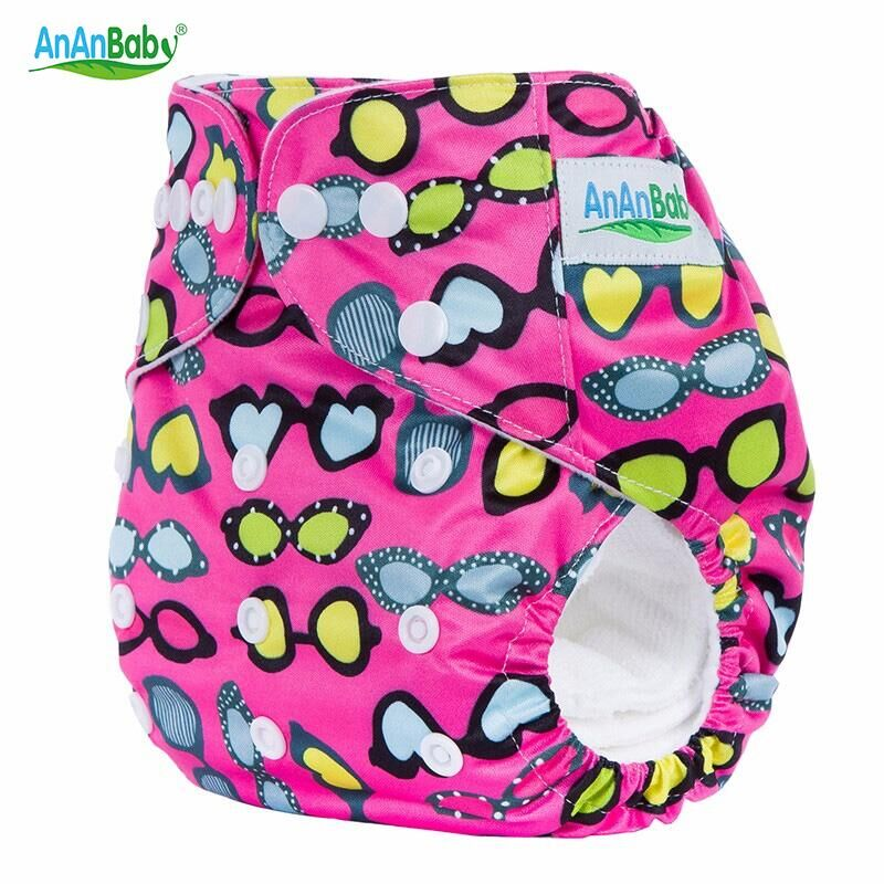 Ananbaby Baby Washable Reusable Real Cloth STANDARD Hook-Loop Pocket Nappy Diaper Cover Wrap Suits Birth to Potty One Size HA003