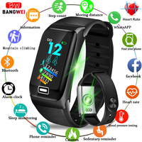 BANGWEI New Sport Watch IP67 Waterproof Smart Wristband Heart Rate Monitor Pedometer Smart Bracelet Smart Watch women Android