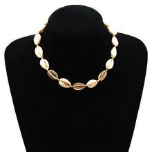 купить Creative Fashion Shell Pendant Necklace Bohemian Beach Hand Woven Rope Chain Choker Necklaces for Women Jewelry дешево