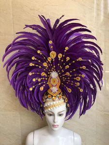 Image 5 - 羽の服ステージパフォーマンスキャットウォークカーニバル頭飾り花パブパーティー紳士服婦人服
