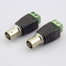 100pcs BNC Female Connectors to Coax Cat5 Video Plug Adapter BNC Plug UTP Video Balun Connector for CCTV Camera