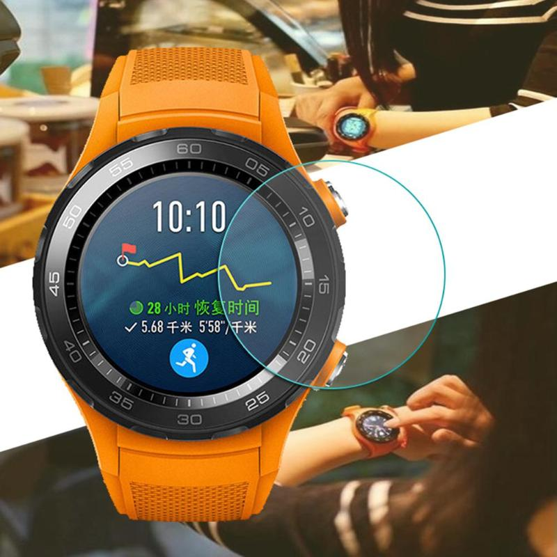 ALLOYSEED 2Pcs/Lot Tempered Glass Protective Film For Huawei Watch 2 Smart Watch Screen Protector Anti-scratch Clear Guard Film