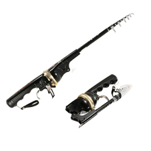 158cm Foldable Fishing Rod Reel Combo Mini Telescopic Carbon Fiber Fishing Pole Fishing Tackle