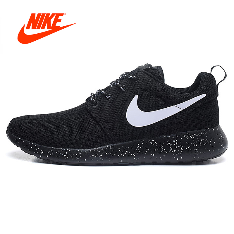 Nike Roshe Run attention Womens Running Shoes Outdoor Sports Sneakers women spring summer Breathable Official Original nike nike кроссовки roshe run roshe one gs женские шоки кроссовки 599728 021 черно белый код us5y 37 5 ярдов