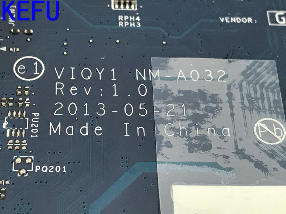 KEFU VIQY1 NM-A032 REV : 1.0 HD RESOLUTIONS Free Shipping Laptop motherboard for Lenovo Y510P NOTEBOOK FIT i7 GT755 VIDEO CARD