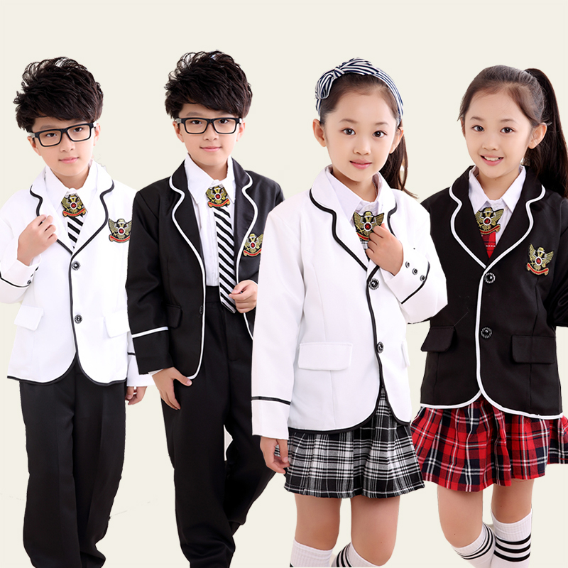 Childrens Primary School Uniform Students Chorus Costumes -8359
