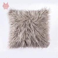 Sofa decor 5colors long faux fur cushion cover car covers pillow case cushion covers housse de coussin capa de almofada SP3459