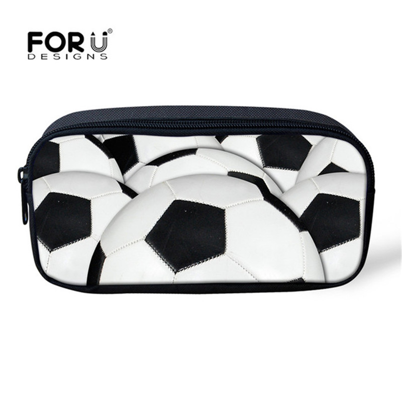 FORUDESIGNS Boys Foot-ball Printing Travel Toiletry Kit Makeup Case Cosmetic Bag Organizer Pouch Pencil Purse Storage Bag 2018