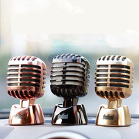 Cool Car Interior Decoration Dashboard Solid Perfume Stand Auto Car Ornament Creative Swing Microphone Air Freshener Great Gift