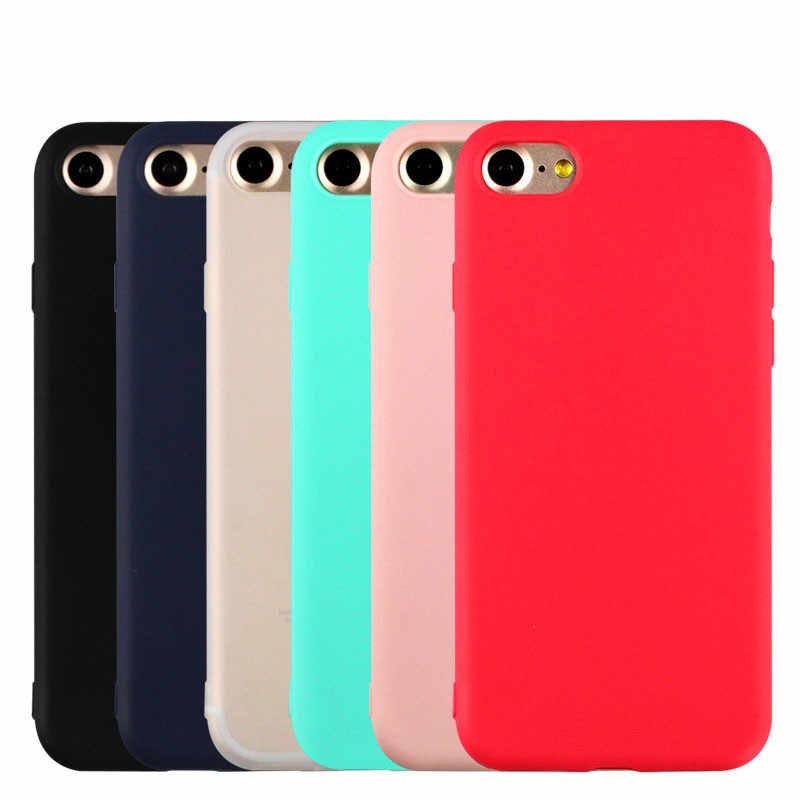 Funda trasera de silicona TPU para iphone 7plus mate lisa de silicona para iphone 5s 6 6s 6plus 7 8 8plus para iphone XS MAX XR