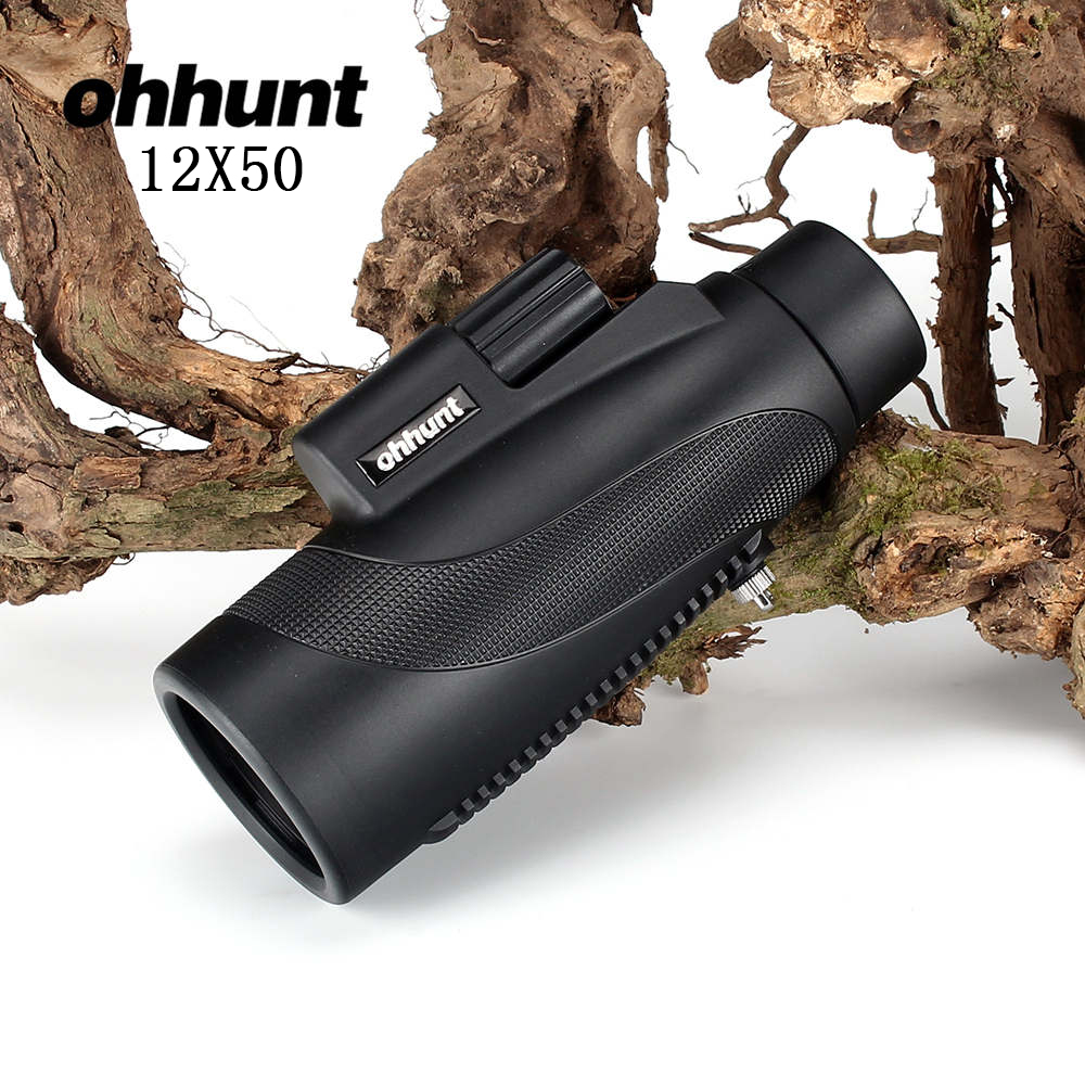 ohhunt 12x50 Monocular Waterproof Fogproof Wide-angle Bright Telescope For Hunting Optics Camping Hiking Travel Concert  6x30mm compact porro prism fogproof monocular