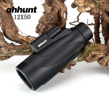 Wholesale prices ohhunt 12×50 Monocular Waterproof Fogproof Wide-angle Bright Telescope For Hunting Optics Camping Hiking Travel Concert