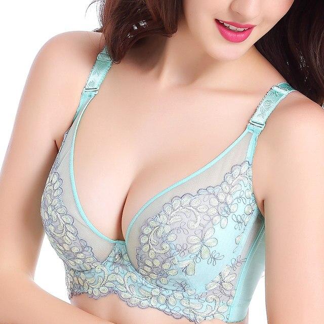 27472008e23f9 Online Shop Women Sexy Bralette Bra Push Up Big Size B C D E 75 80 ...