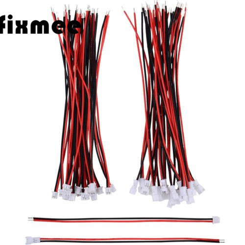 Fixmee 10 Pairs JST 1.25mm 2 Pin Micro Male Female Connector Plug 100mm Wires Cables