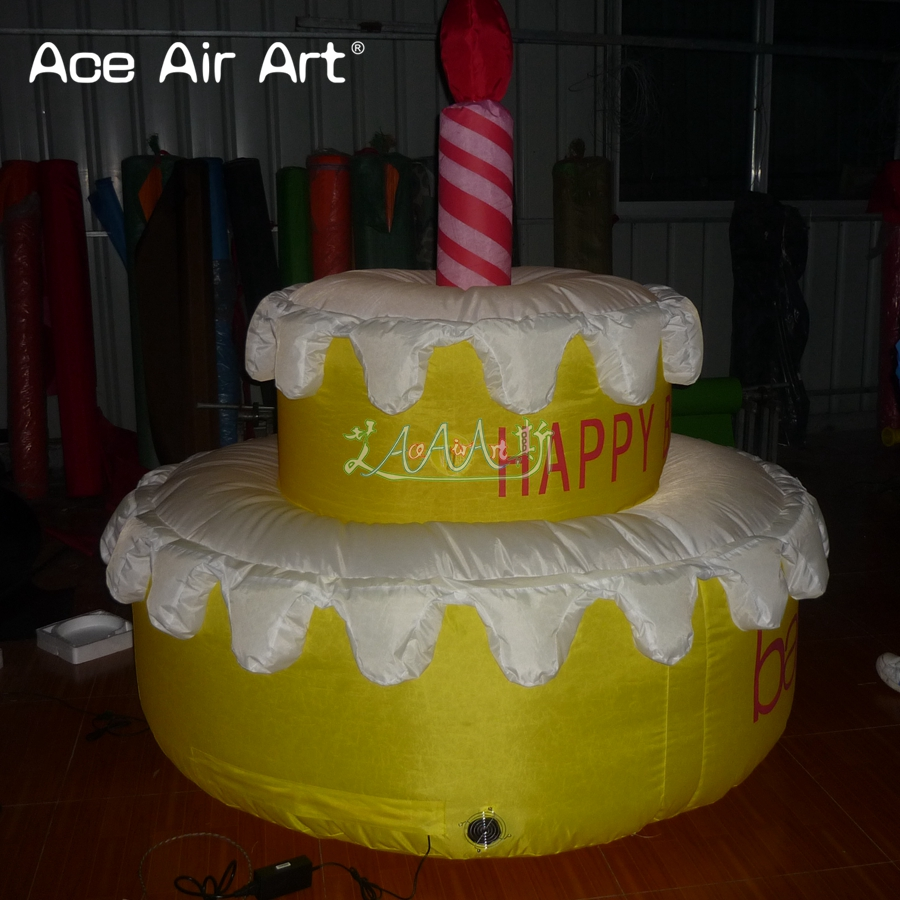 Admirable Giant Standing Type Cake Replica Inflatable Birthday Cake Model Personalised Birthday Cards Bromeletsinfo