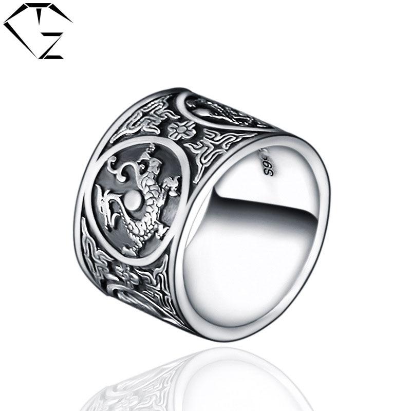 Дракон серебряное кольцо
