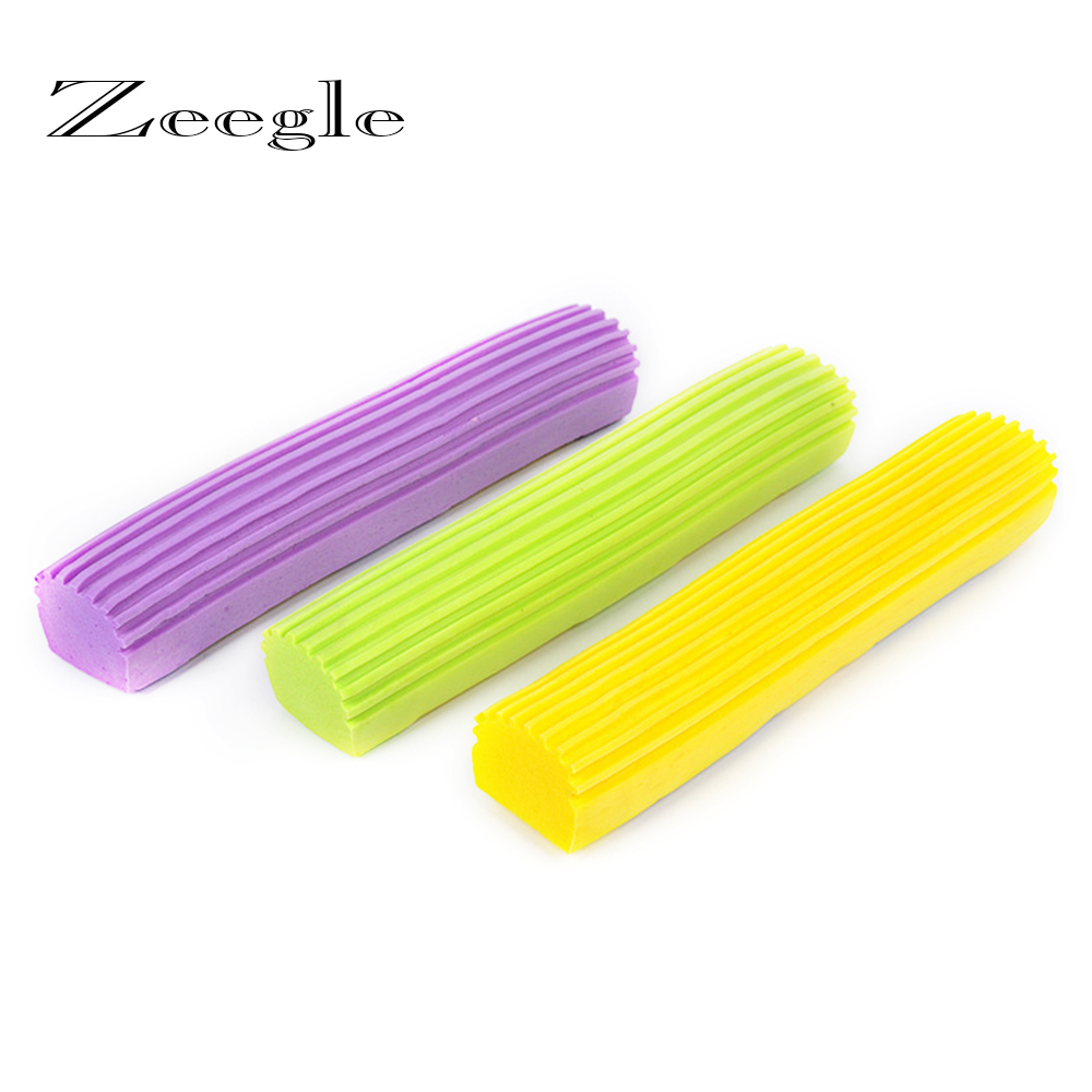 Zeegle 1 шт. бытовые губки швабры пополнения Швабры Pad Замена губка головка для Швабры Складная squeeze воды хлопка СС голова