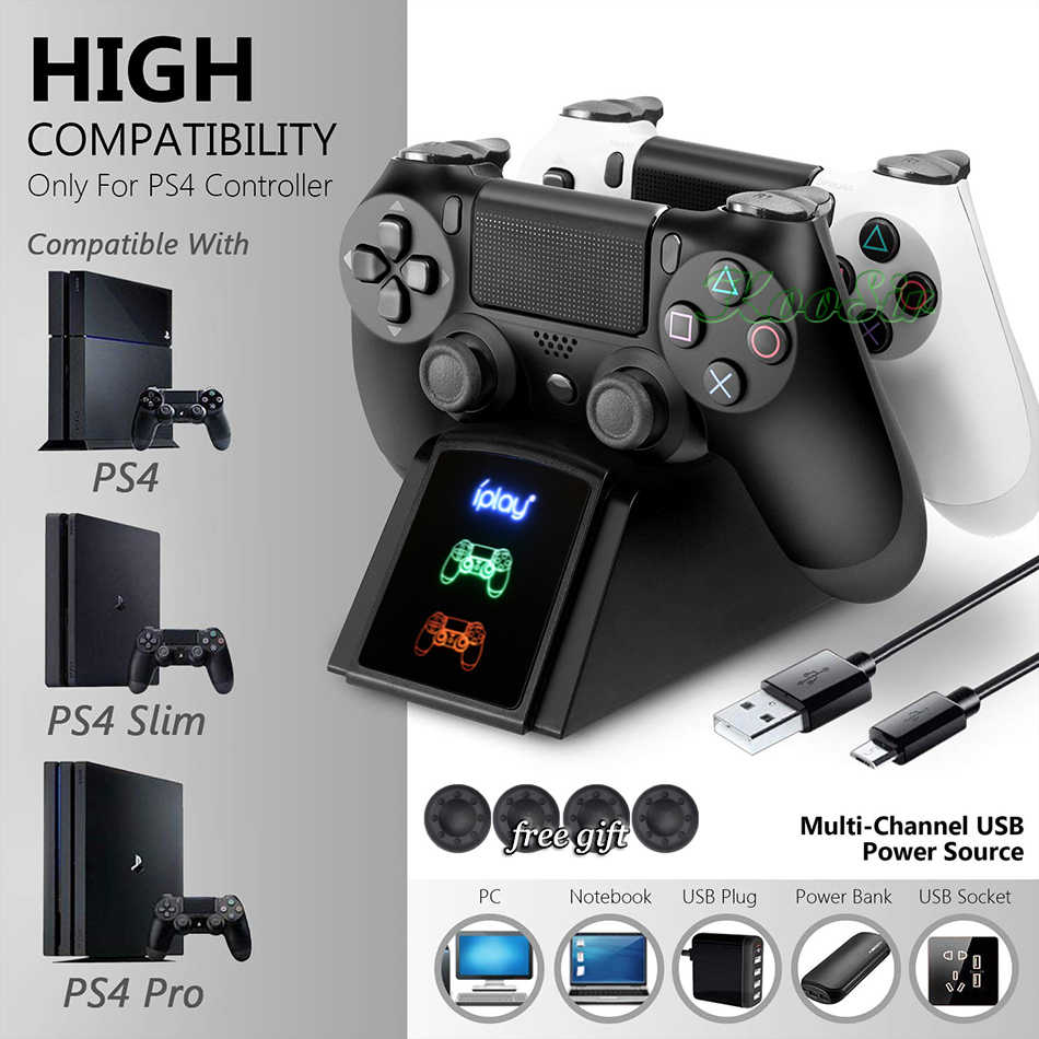 PS 4 Slim Pro 3 In 1 Wireless Controller Pengisian Dock PS4 Joystick Charger Play Station 4 Gamepad Pengisian Base untuk DualShock 4