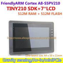 Free shipping FriendlyARM S5PV210 Cortex A8 Development Board,TINY210 SDK+7inch Capacitive Touch Screen,512M RAM+512M Flash