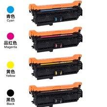 CE250A 250A 251A 252A 253A BK C Y M цветной тонер-картридж 504A совместимый с hp CP3525 CM3530 комплект картриджей для принтера
