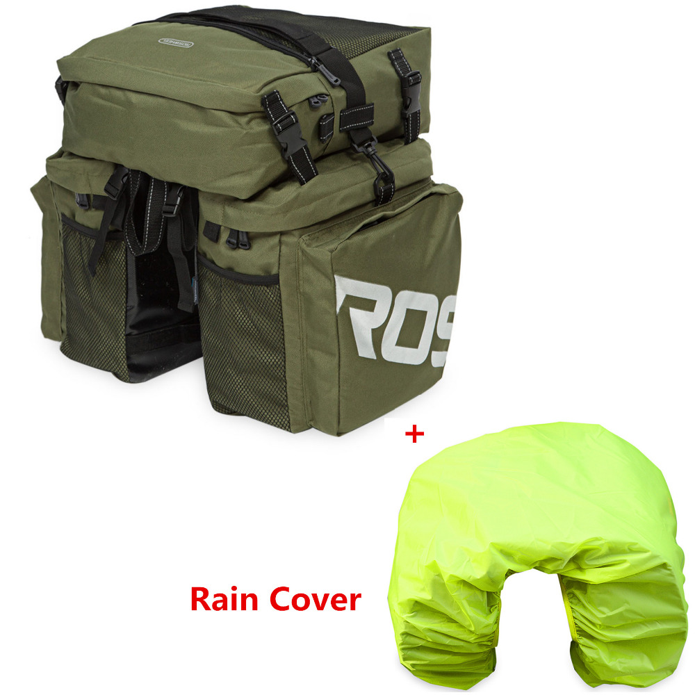 ROSWHEEL 37L 3 in 1 Multifunction Bicycle Bag MTB Road Bike Rack Bag Bicycle Cycling Pannier