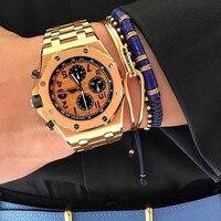 Anil Arjandas Brand Mens Charm Bracelets, CZ Beads & Dark Blue Spacer Beads Braided Bracelet For Women