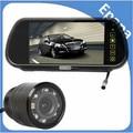 Nova marca de 2015 7 Polegada TFT a Cores de carro espelho retrovisor estacionamento monitor + car rear view câmera reversa ir com 2 entrada de vídeo
