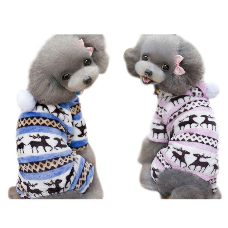 Abbigliamento Invernale Stuffedsweater Ricopre I Vestiti Caldi Autunno/inverno Giacca Rosa Blu Cucciolo Di Cane Dell'animale Domestico