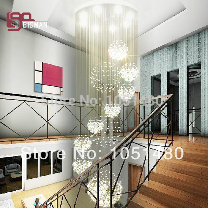 new luxury crystal chandelier lighting fixtures modern crystal lamp wideth 80cm staircas ...