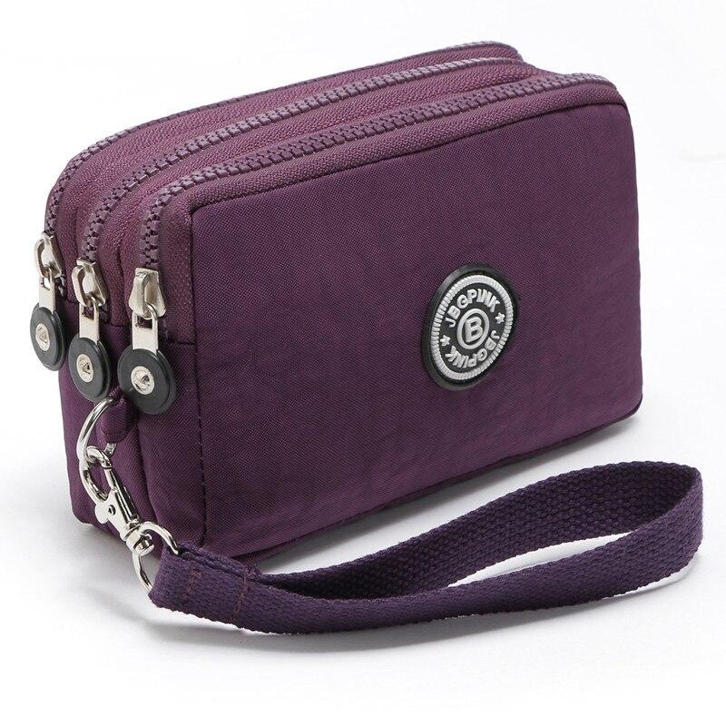 New 2017 Brand Nylon Wallet Double Layer Zipper Coin Pocket Organizer Purse Wristlet Clutch Slim Wallet For Girl Dollar price