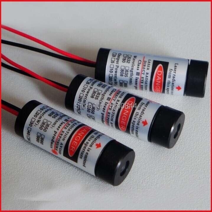 TTL modulation 5mW 650nm red laser diode module DC3-5V 0-300KHz size 12x35mm