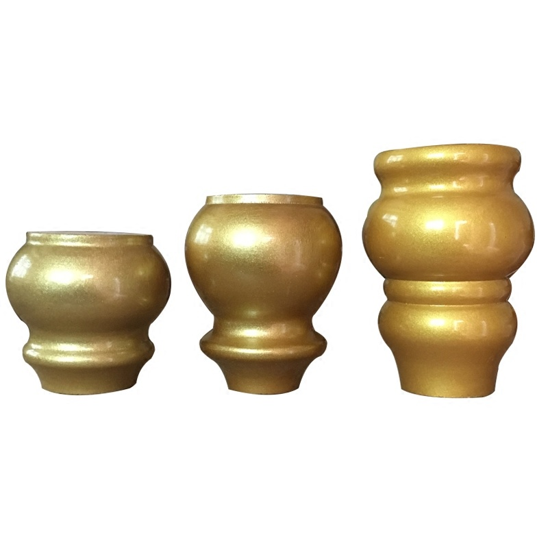 1pcs! Retro Antique Solid Wood Furniture Sofa Legs Gold Support Feet Lifter Replacement For Table Bed Cabinet Furniture Parts