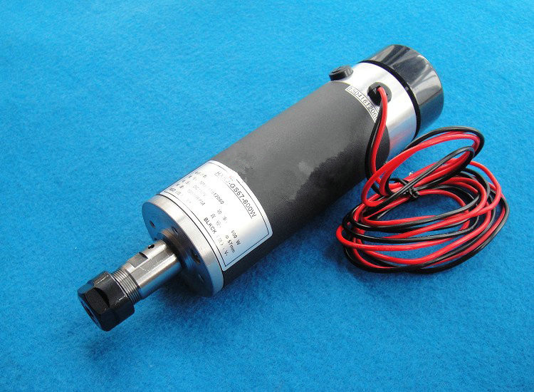 0.6kw 7.8A 2880-13200r/min Air cooled 600W Spindle motor with ER11 collet cnc dc spindle motor 500w 24v 0 629nm air cooling er11 brushless for diy pcb drilling new 1 year warranty free technical support
