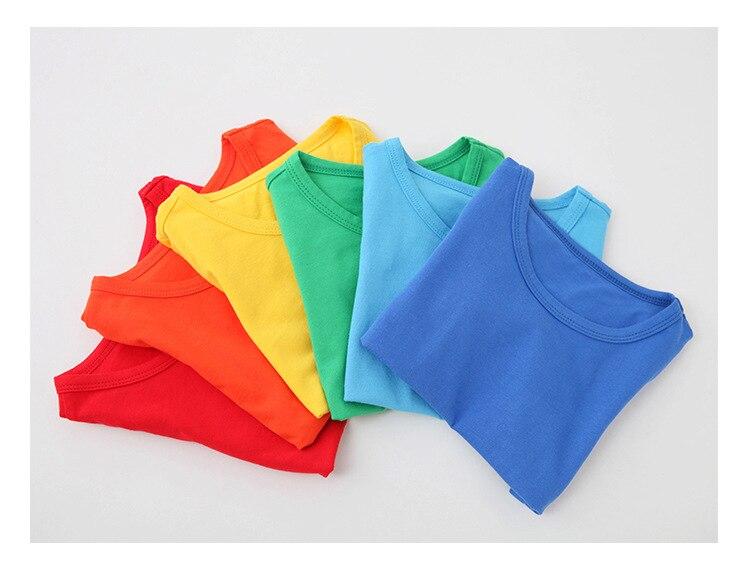 VIDMID Kids T-shirt Tops Baby Boy Cotton Short Sleeve Tops girls Children Cartoon basic color clothes boys girls tees 4018 29 4