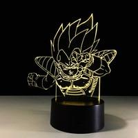 Dragon Ball 3D Led Light Vegeta Decorative Table Lamp USB LED Creative 3D Lighting Lamp Visual