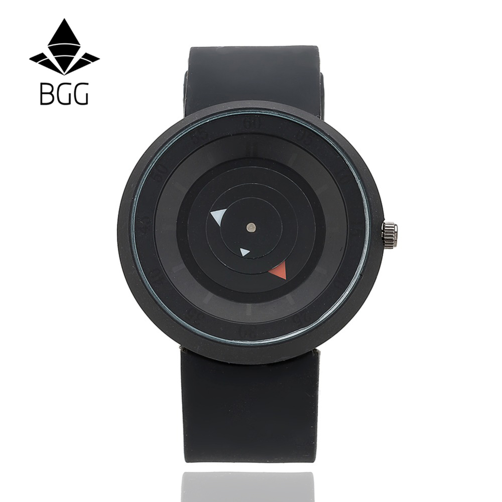 New Design Creative watches Futuristic men women black waterproof quartz watch BGG brand fashion casual unique wristwatch clock bgg brand creative two turntables dial women men watch stainless mesh boy girl casual quartz watch students watch relogio