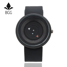 New Design Creative watches Futuristic men women black waterproof quartz watch BGG brand fashion casual unique wristwatch clock
