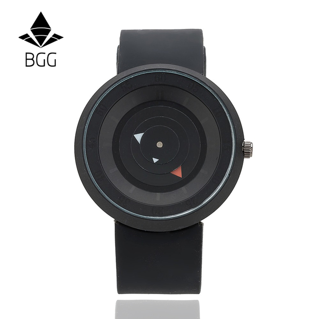 New Design Creative watches Futuristic men women black waterproof quartz watch BGG brand fashion casual unique wristwatch clock
