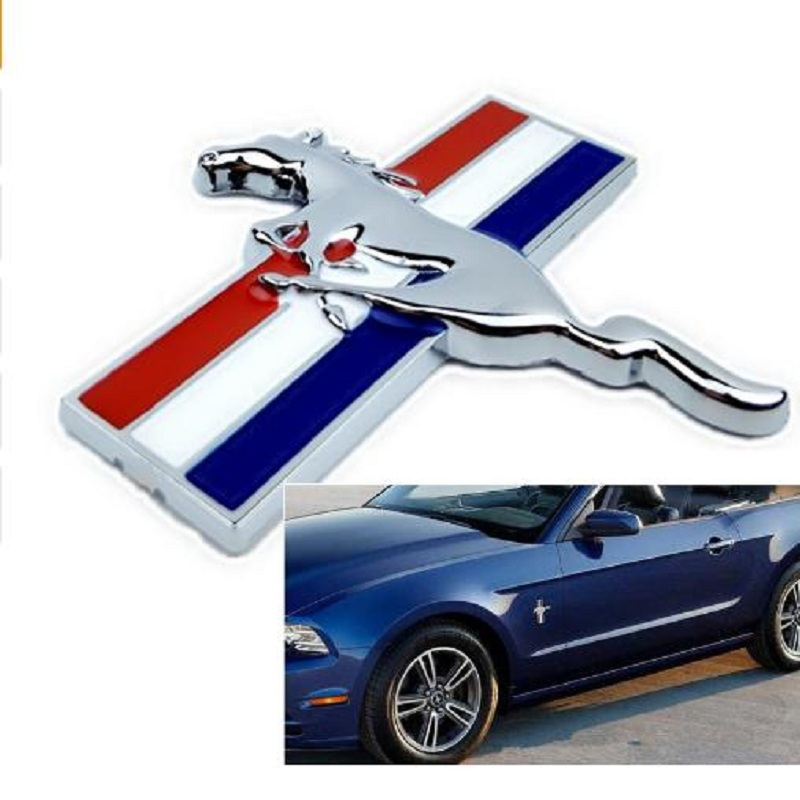 2PCS Door Fender 3D Emblem Auto Sticker Running Horse For Ford Mustang Badge Logo Decal Car Stlying Free Shipping комбо для гитары fender mustang gt 200 page 3