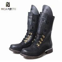 Prova Perfetto New Fashion Women Martin Boots Retro Flat Heel Female Knight Short Ankle Boots Punk