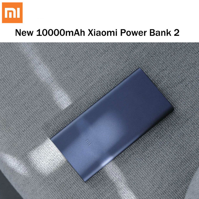 Xiaomi New Power Bank 2 10000mAh Quick Charge Powerbank Dual-USB Portable Aluminium Fast Charging Mi Power External Battery