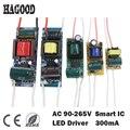 1-3 W 4-7 W 8-12 W 12-18 W 18-24 W 25-36 W LED controlador de fuente de alimentación incorporada constante de iluminación actual transformadores para DIY lámpara LED