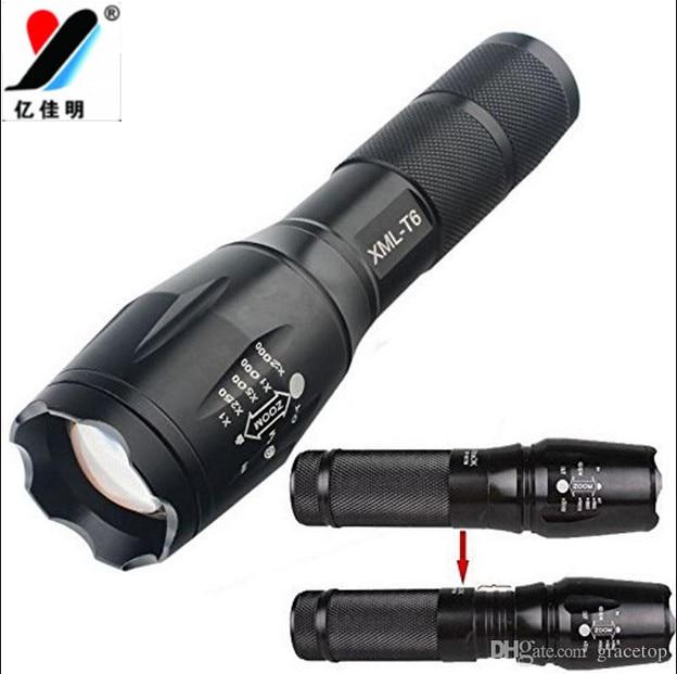 Military Grade Powerful ROHS Rechargeable Flashlight/Led Bike Light Led 1600 Lumens 18650 2000x Waterproof G700 Style