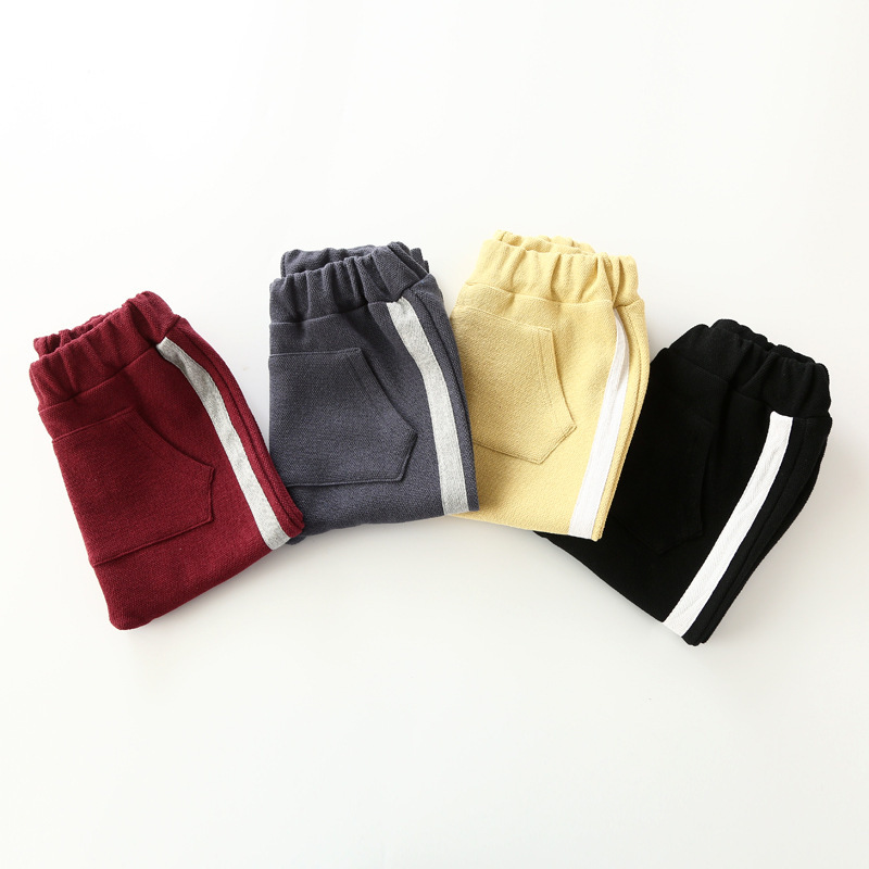 2017 Top quality cotton baby boys girls harem pants kids children trousers boys girls cl ...