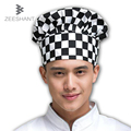 1PC Adult Elastic White Chef Hat Baker BBQ Kitchen Cooking Hat Costume Cap Cooking Cap Cafe Restaurant Working Cap Working Cap
